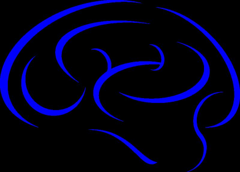 Clipart - Brain in Blue