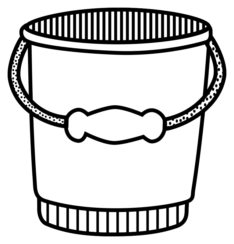 clipart bucket lineart