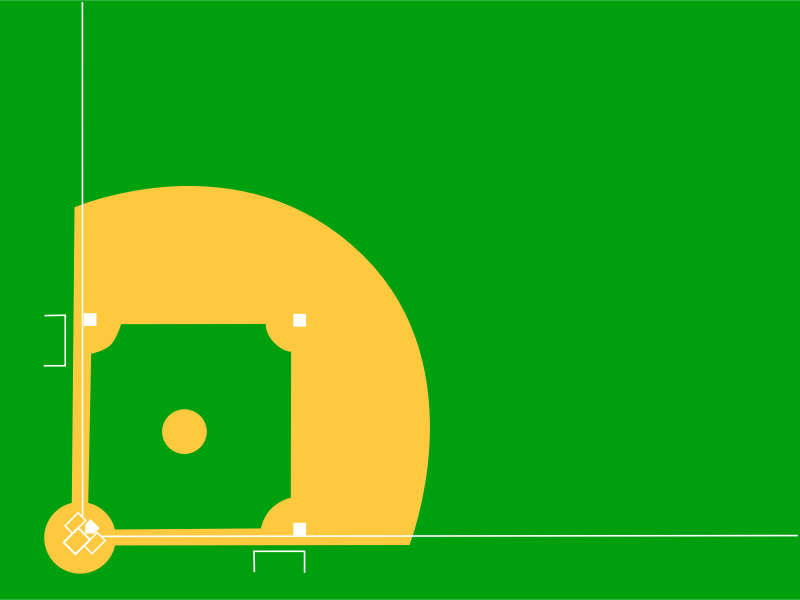 baseball diamond by johnny_automatic - a diagram of a baseball diamond