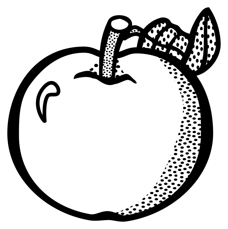 Line Art Of Apple : Clipart apple lineart