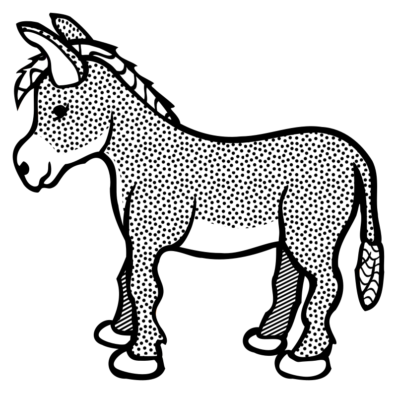 Line Drawing Donkey : Clipart donkey lineart