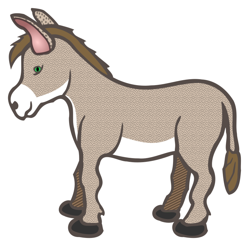 free clipart of a donkey - photo #12