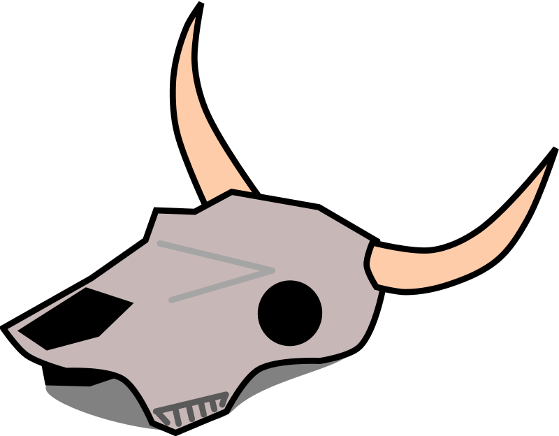 clipart cow skull rh openclipart org cow skull clipart