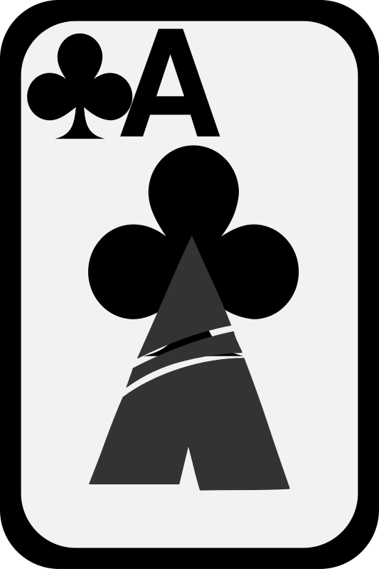 Ace of Clubs by momoko - Ace of clubs from a funky card deck.