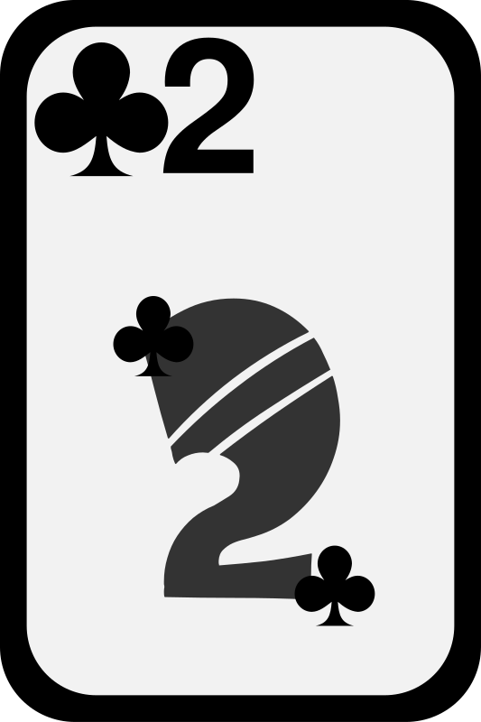 Two of Clubs by momoko - Two of clubs from a funky card deck