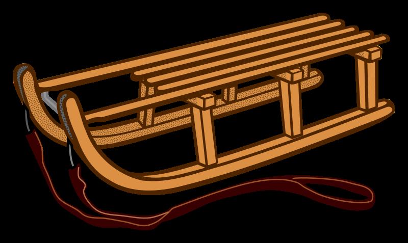 clipart sledge coloured