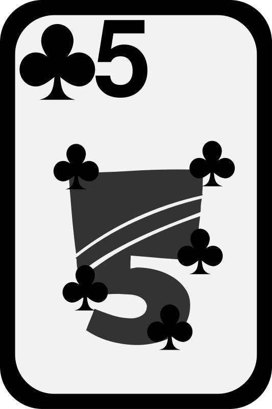 Five of Clubs by momoko - Five of clubs from a funky card deck