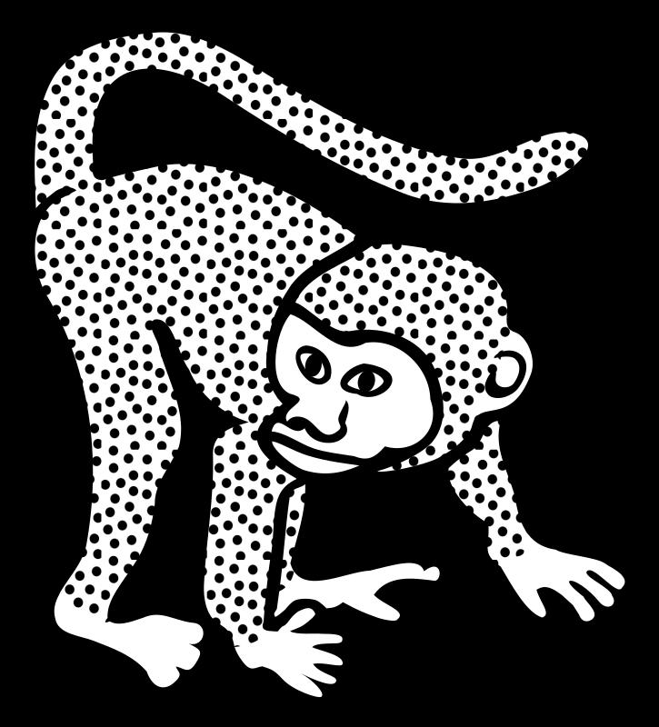 Line Art Monkey : Clipart monkey lineart