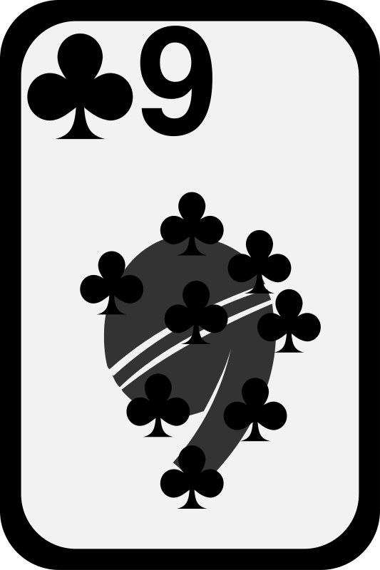 Nine of Clubs by momoko - Nine of clubs from a funky card deck