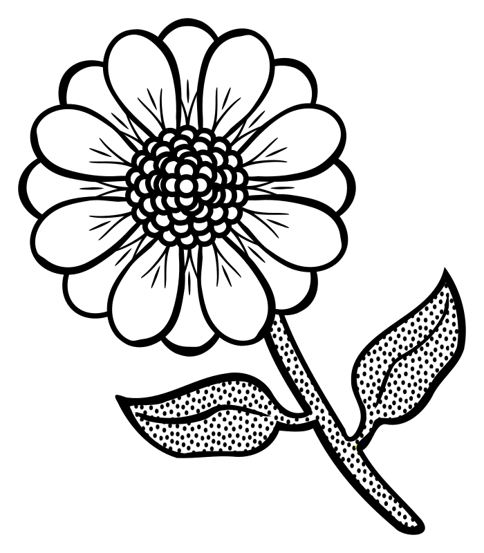Floral Art Line Design : Clipart flower lineart