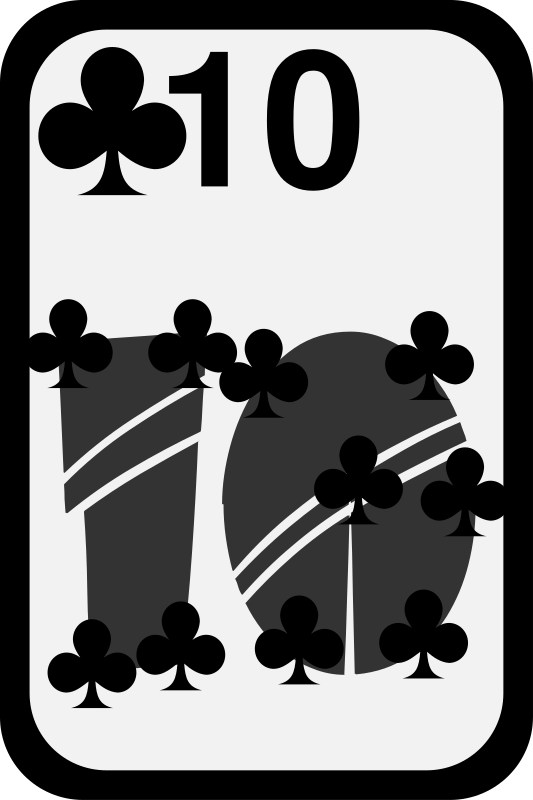 Ten of Clubs by momoko - Ten of clubs from a funky card deck