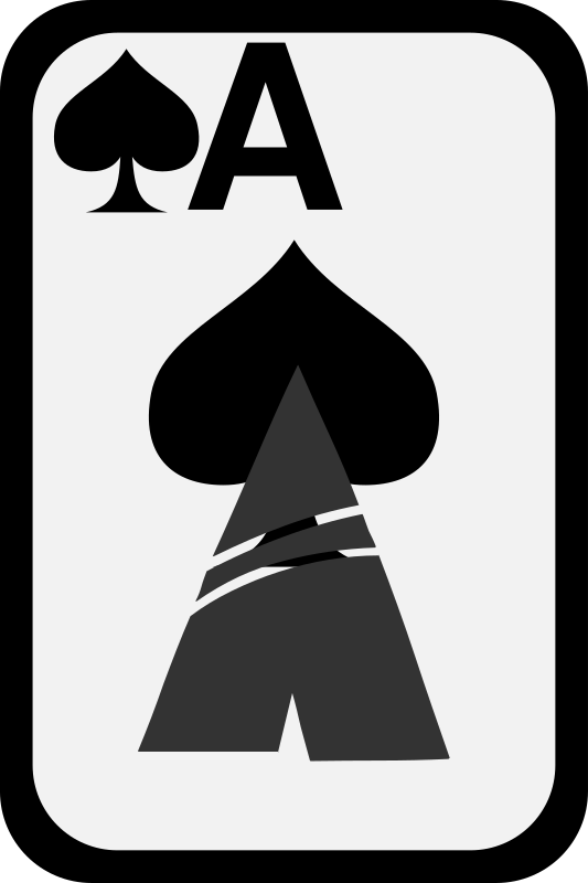 Ace of Spades by momoko - Ace of spades from a funky card deck