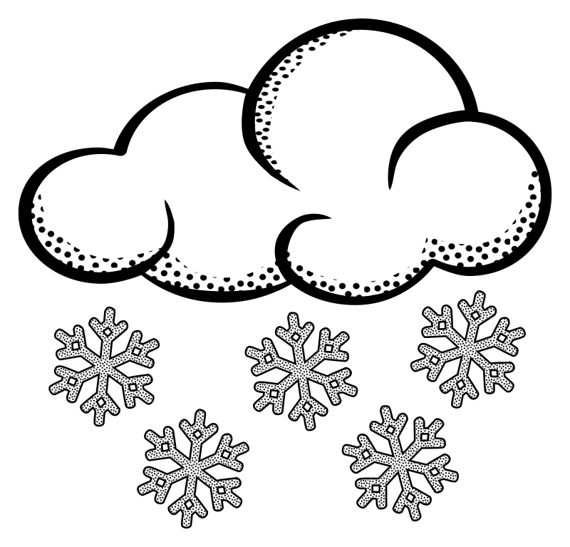 clipart snow lineart rh openclipart org snowy clip art snow clip art border