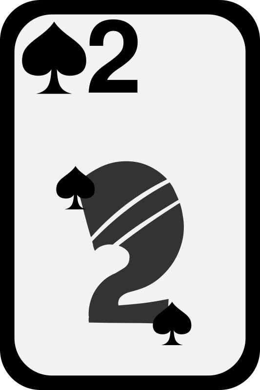 Two of Spades by momoko - Two of spades from a funky card deck