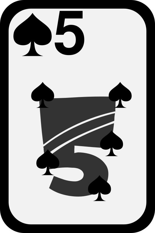 Five of Spades by momoko - Five of spades from a funky card deck