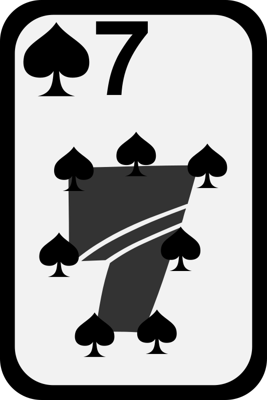 Seven of Spades by momoko - Seven of spades from a funky card deck
