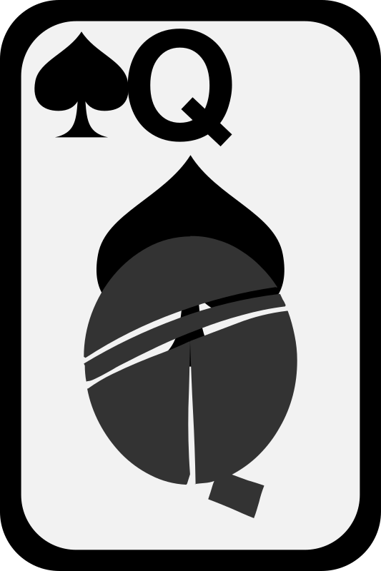 Queen of Spades by momoko - Queen of spades from a funky card deck