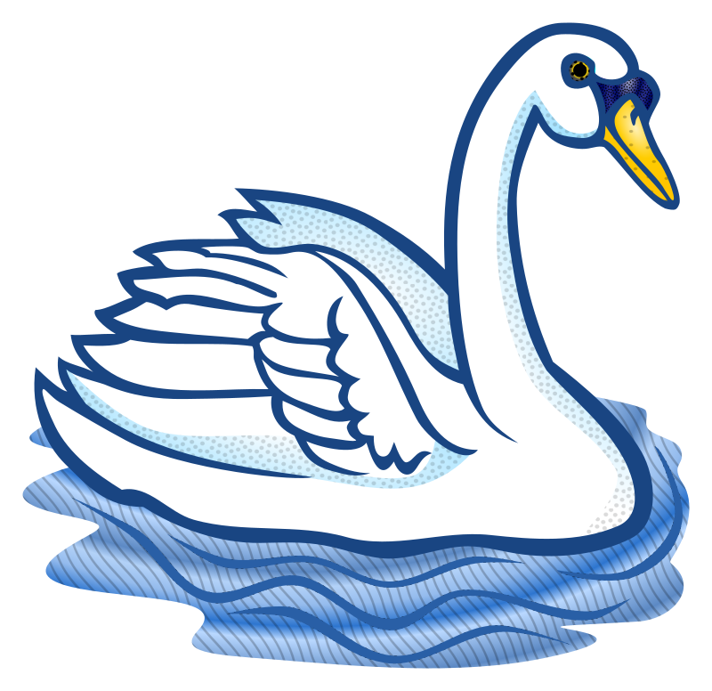 clipart - swan - coloured