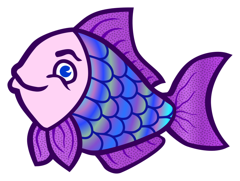 fish - coloured by frankes - coloured line art fish