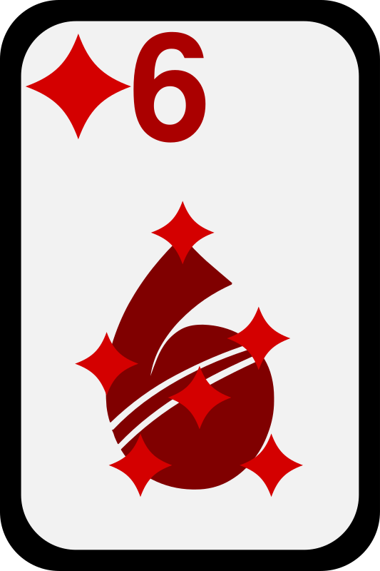 Six of Diamonds by momoko - Six of diamonds from a funky card deck