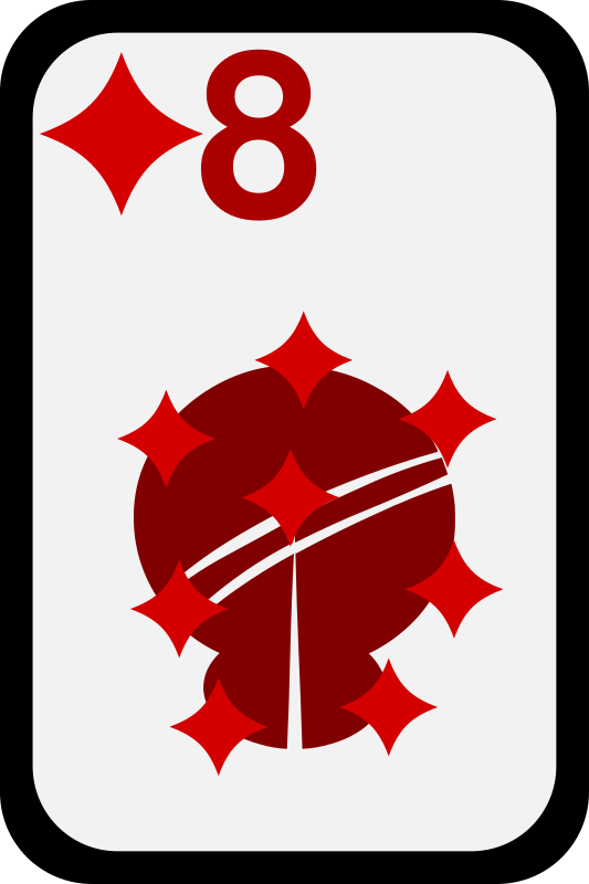 Eight of Diamonds by momoko - Eight of diamonds from a funky card deck
