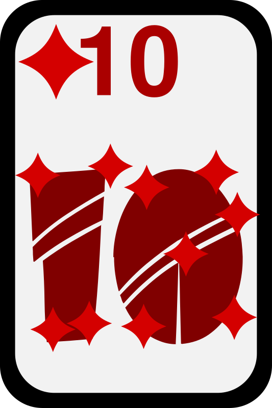 Ten of Diamonds by momoko - Ten of diamonds from a funky card deck