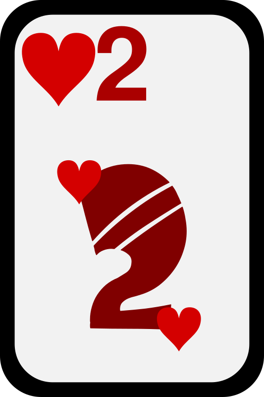Two of Hearts by momoko - Two of hearts from a funky card deck