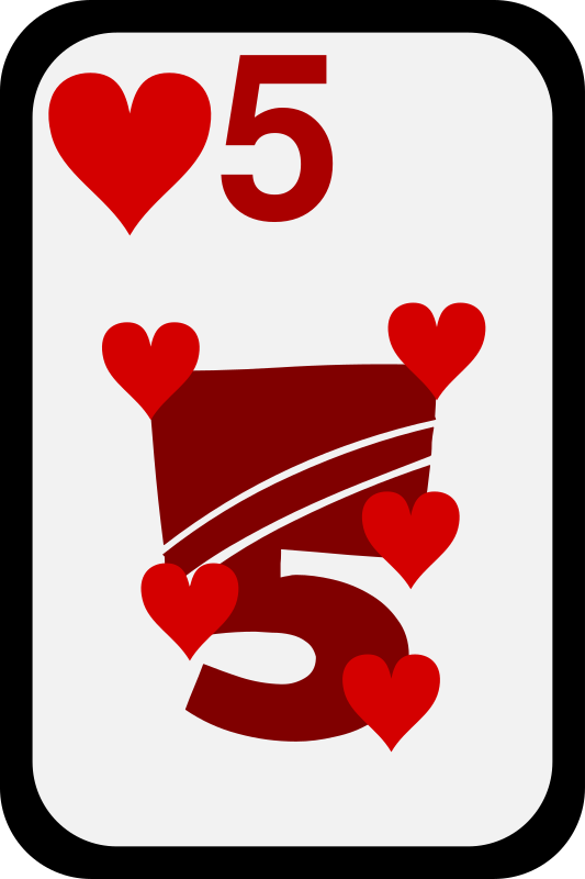 Five of Hearts by momoko