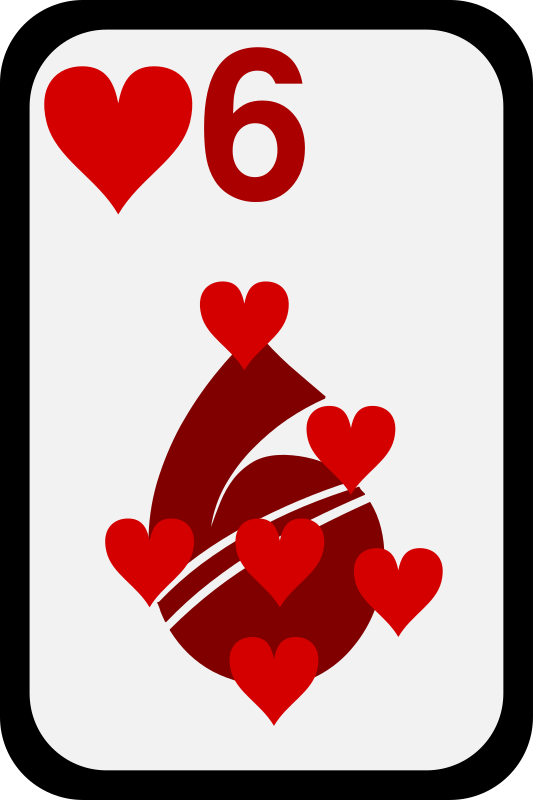 Six of Hearts by momoko - Five of hearts from a funky card deck
