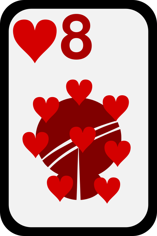 Eight of Hearts by momoko - Eight of hearts from a funky card deck