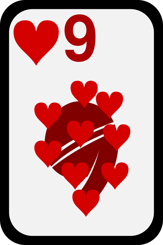 clipart nine of hearts animated deck of cards clipart deck of cards clip art free