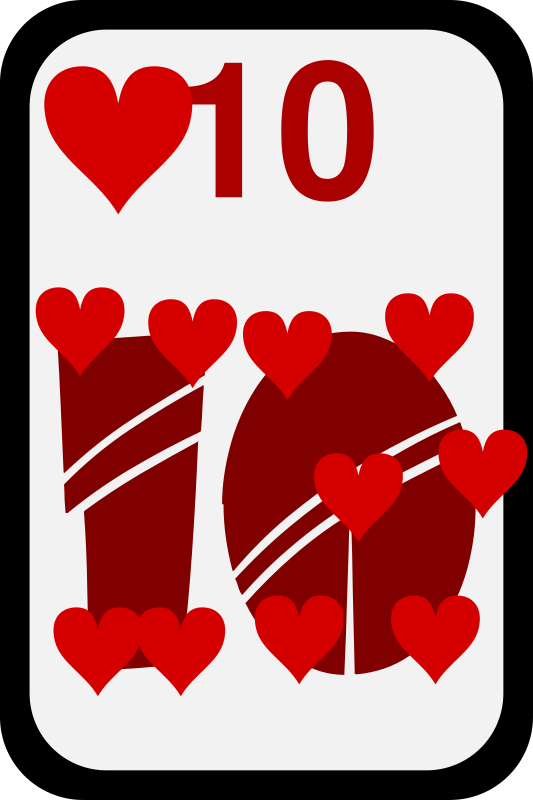 Ten of Hearts by momoko - Ten of hearts from a funky card deck
