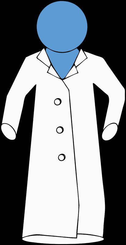 clipart lab coat on blue figure