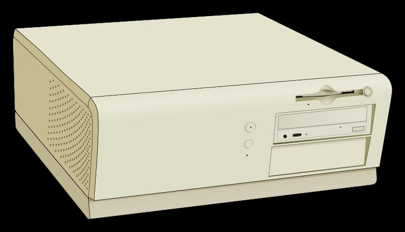 mid-sized desktop computer designed similar to the Dell OptiPlex GX1 ...