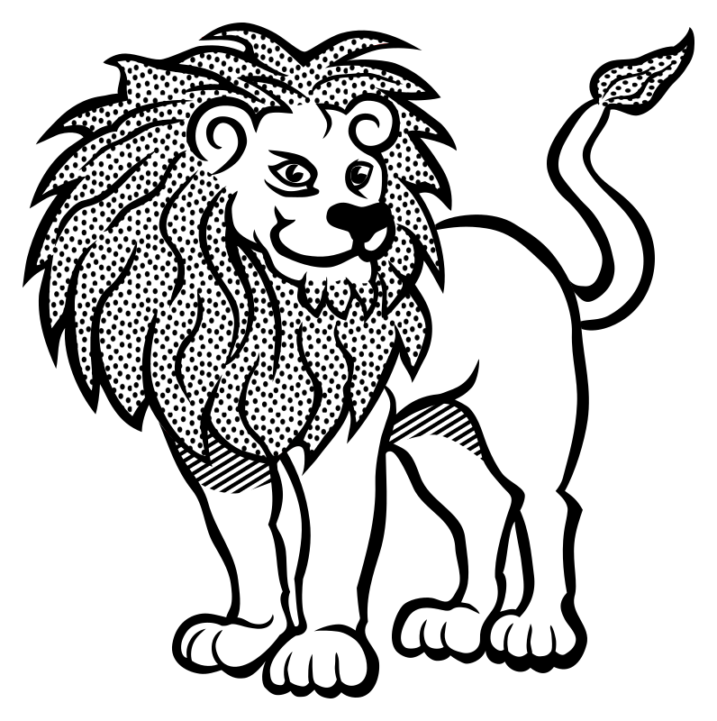 Line Art Lion : Clipart lion lineart