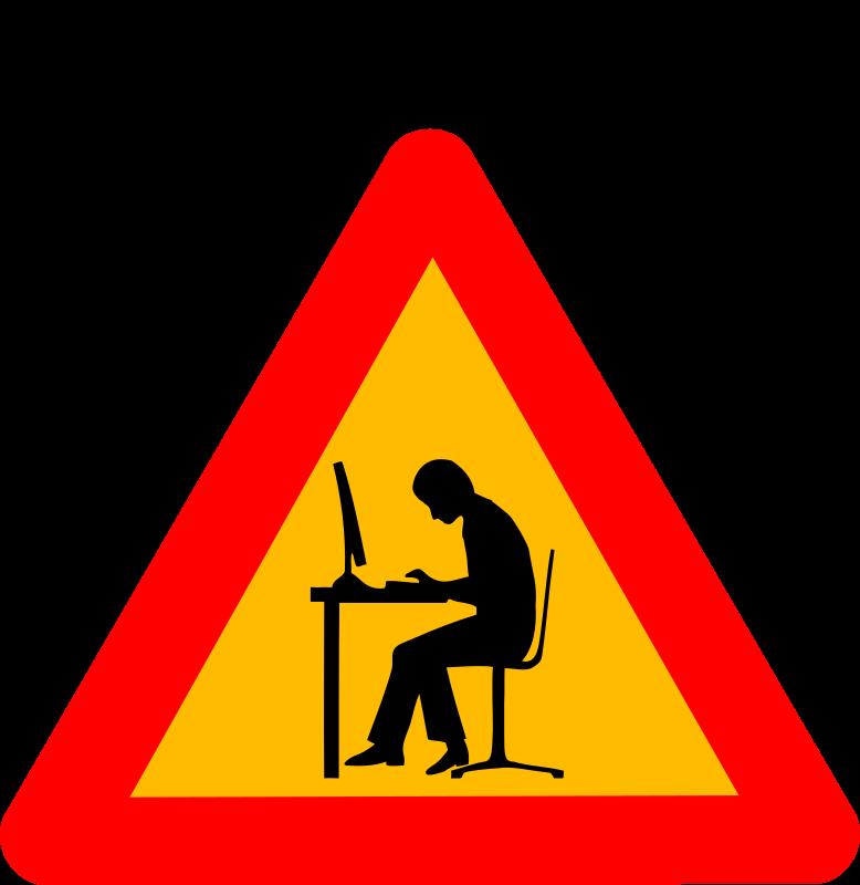 Warning Road Sign Clipart - Warning geek