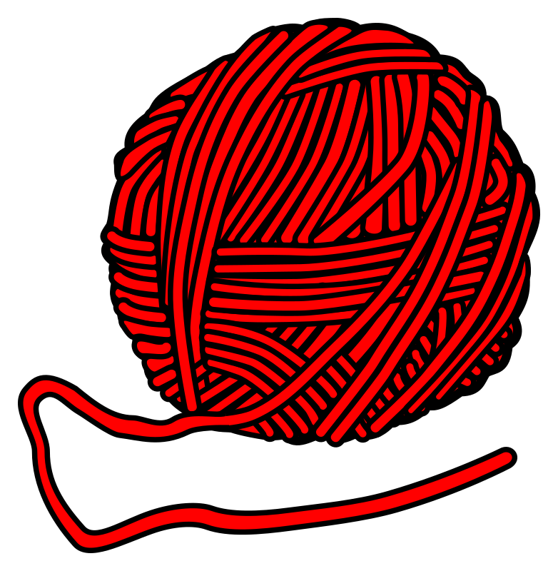 Clipart - wool - coloured