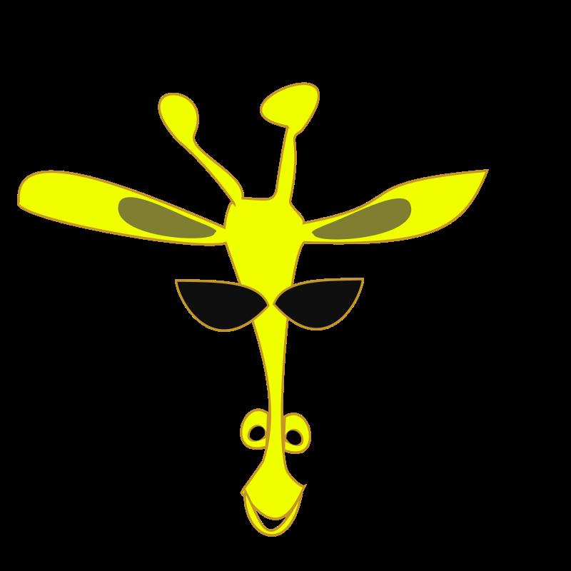 Clipart - giraffe smaller smile