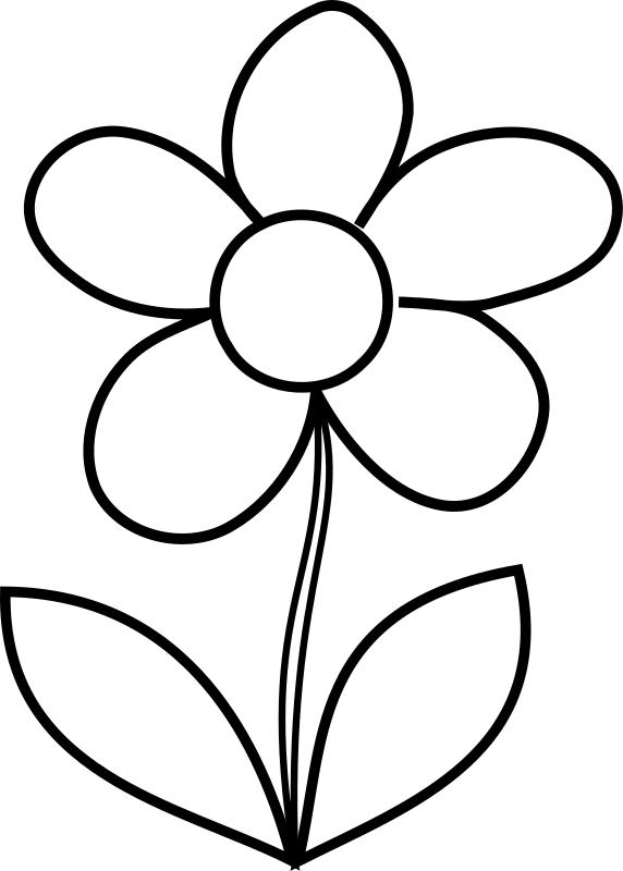 Clipart - Simple Flower bw: openclipart.org/detail/215702/simple-flower-bw