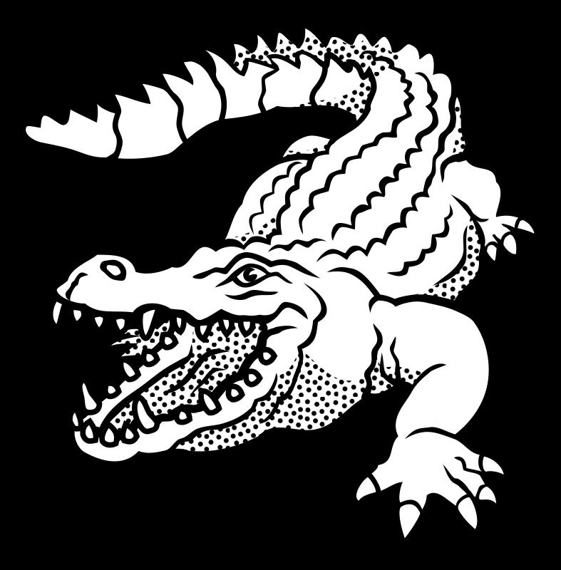 Clipart - crocodile - lineart