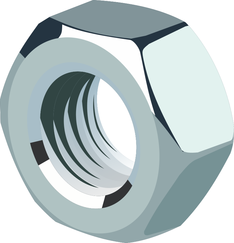 Pictures Of Nuts And Bolts >> Clipart - Nut of steel