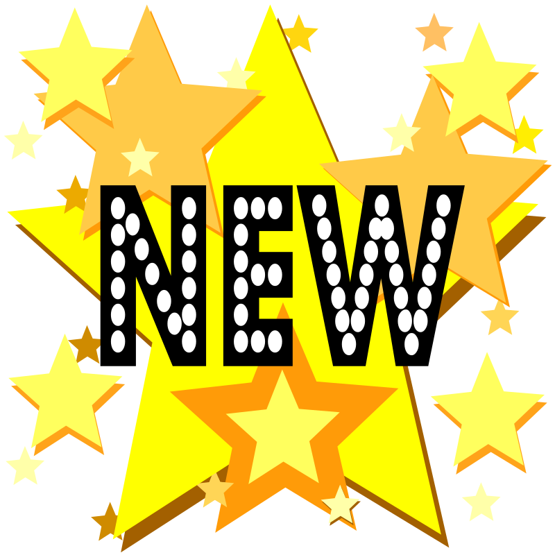 "New On Stars by eady - The word ""NEW"" on a background of stars."