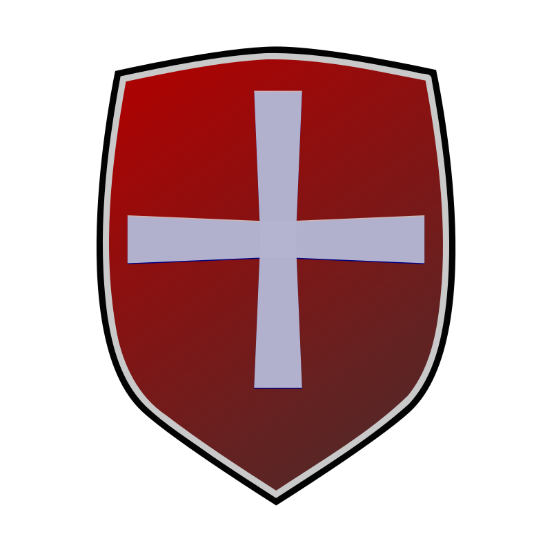 Clipart - Red shield