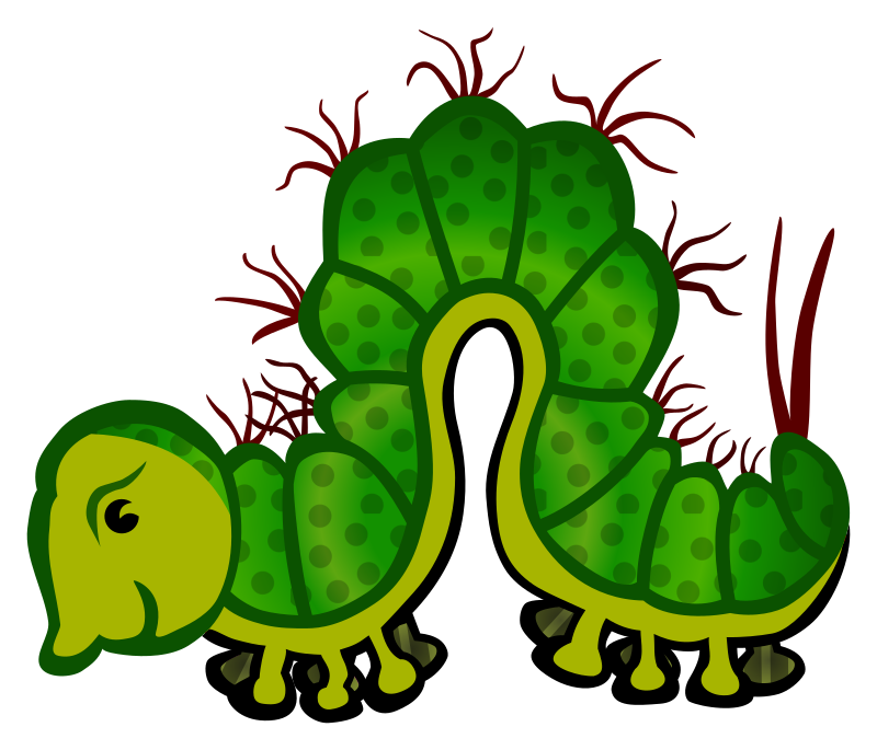 Clipart - caterpillar - coloured