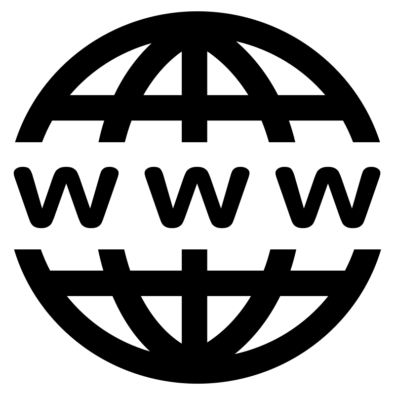 Clipart - WWW Icon - B...