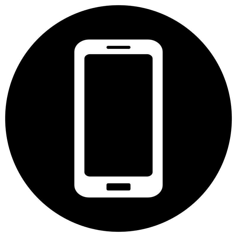 Cell Phone Icon Black And White | www.imgkid.com - The ...