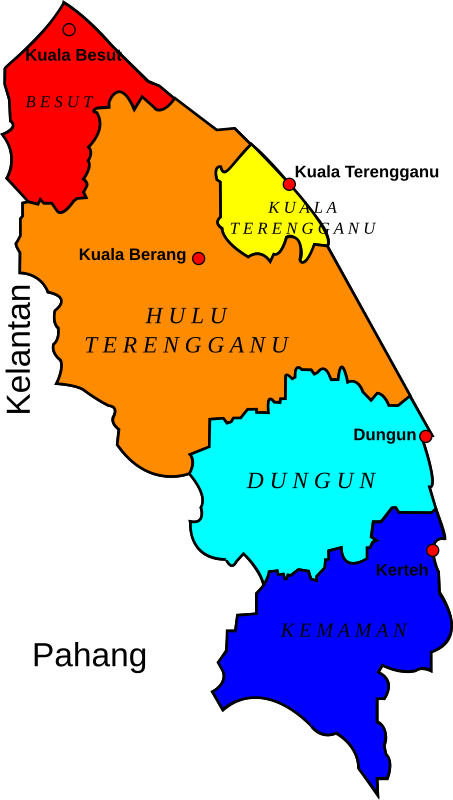 Map of Terengganu, Malaysia by derkommander0916