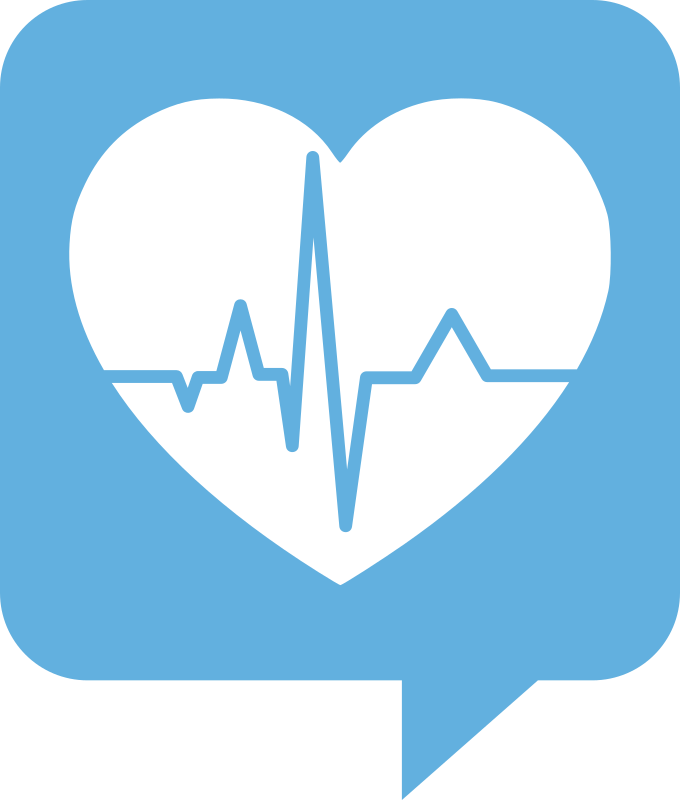 Clipart Heartbeat Logo For Health No Background White Heart