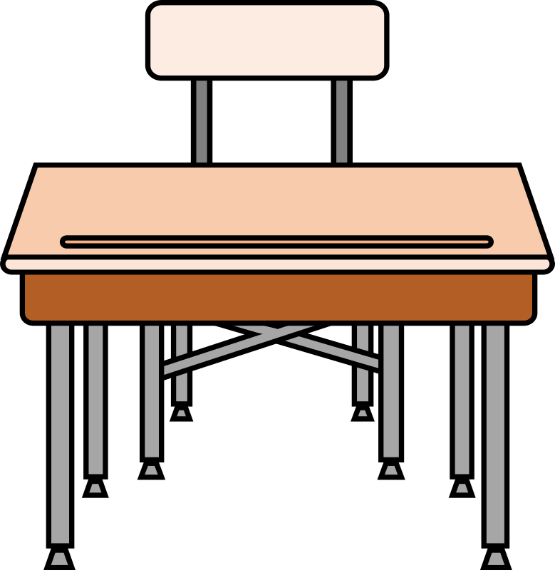 Clipart Empty student s desk