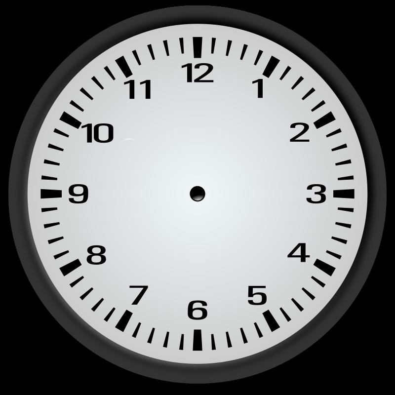 blank analog clock clip art - photo #21